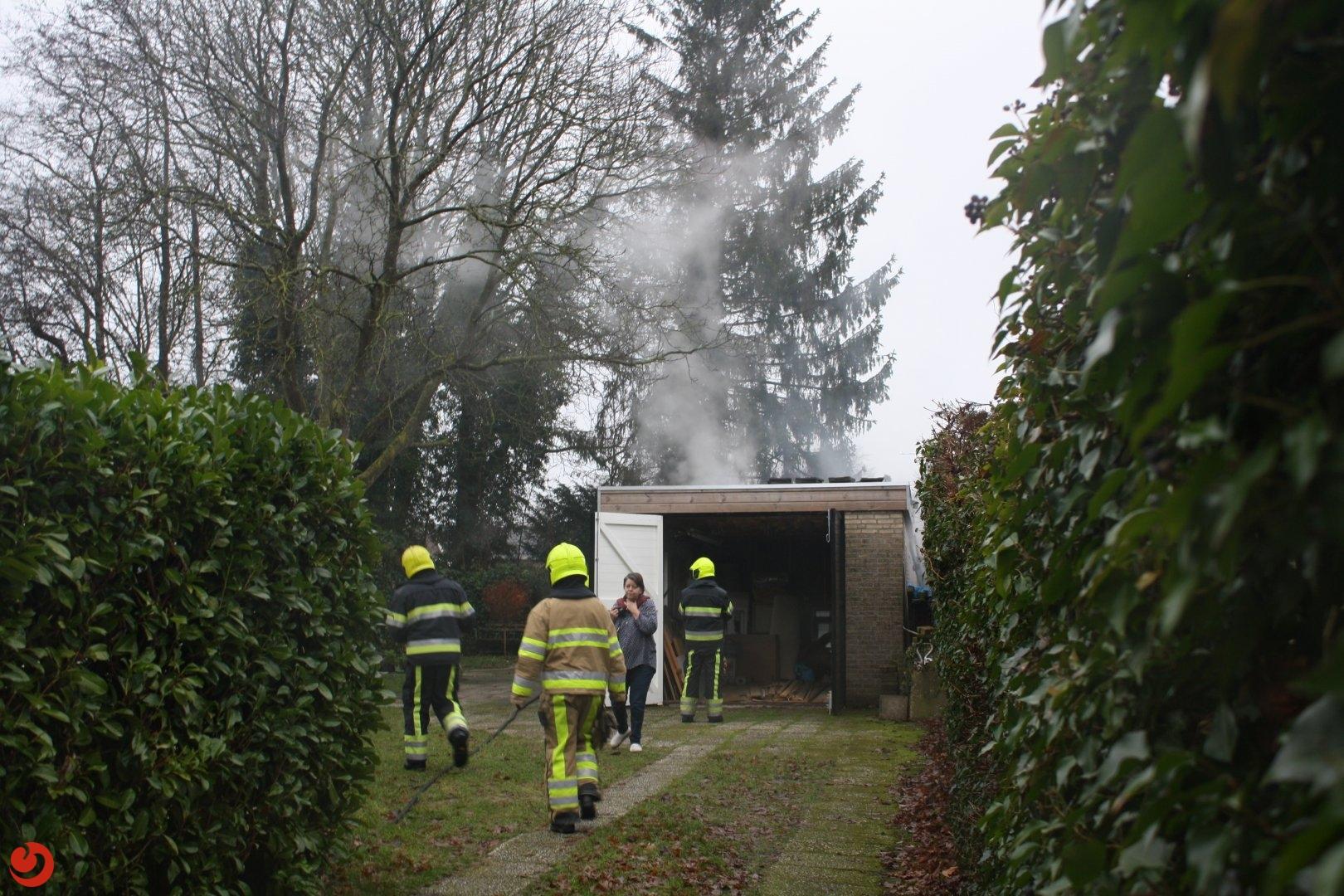 Kachel veroorzaakt brand in schuur
