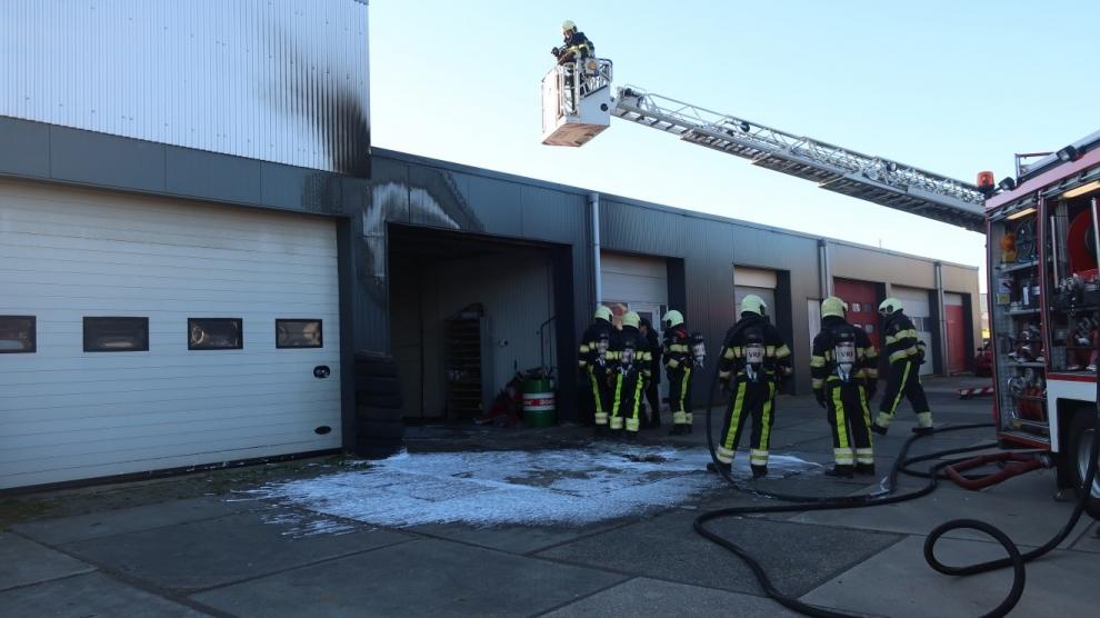 Gewonde bij brand in garagebox