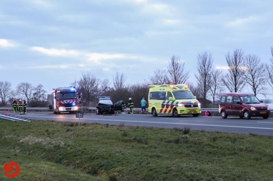 A31 afgesloten door eenzijdig ongeval
