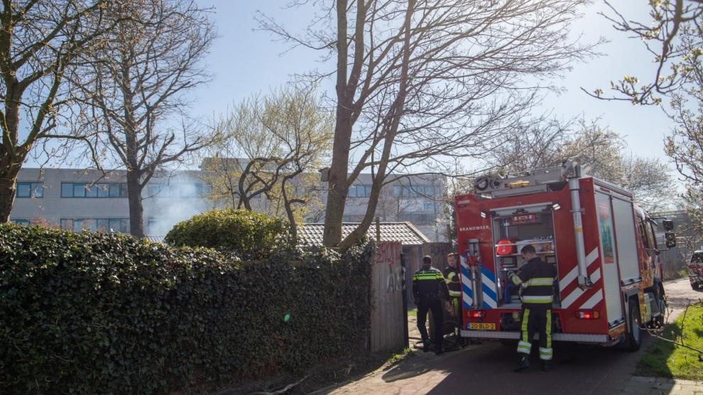 Brandweer tweemaal in actie voor gebouwbrand