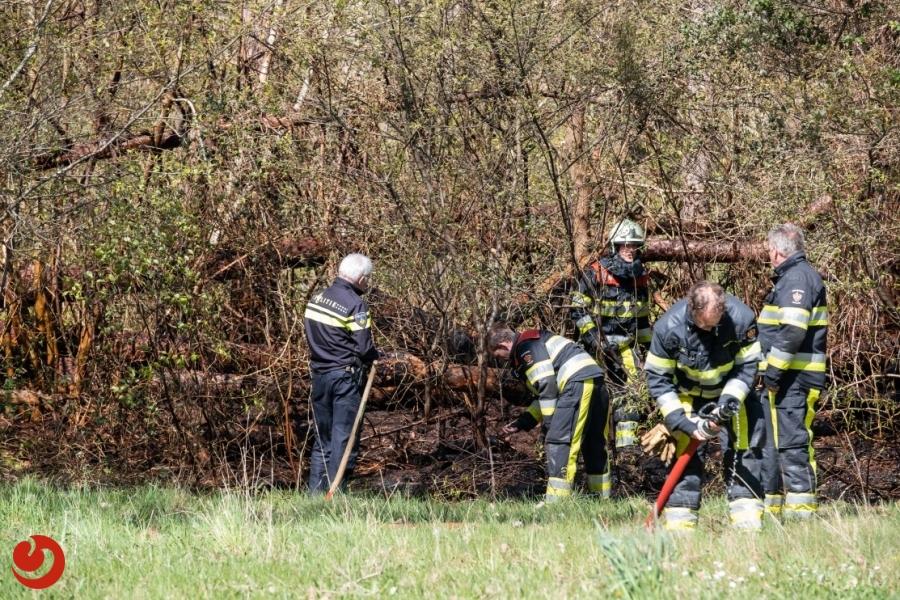 Bosschage in brand; politie vermoedt brandstichting
