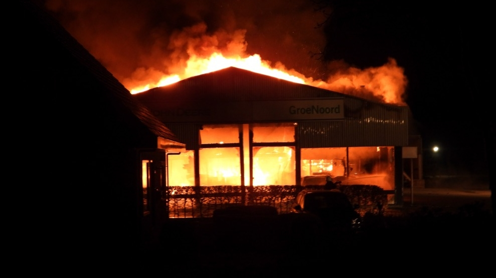 Bedrijfspand verwoest door brand