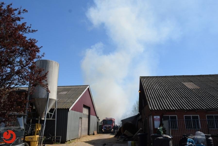 Veel rookontwikkeling bij brand in Zwagerbosch