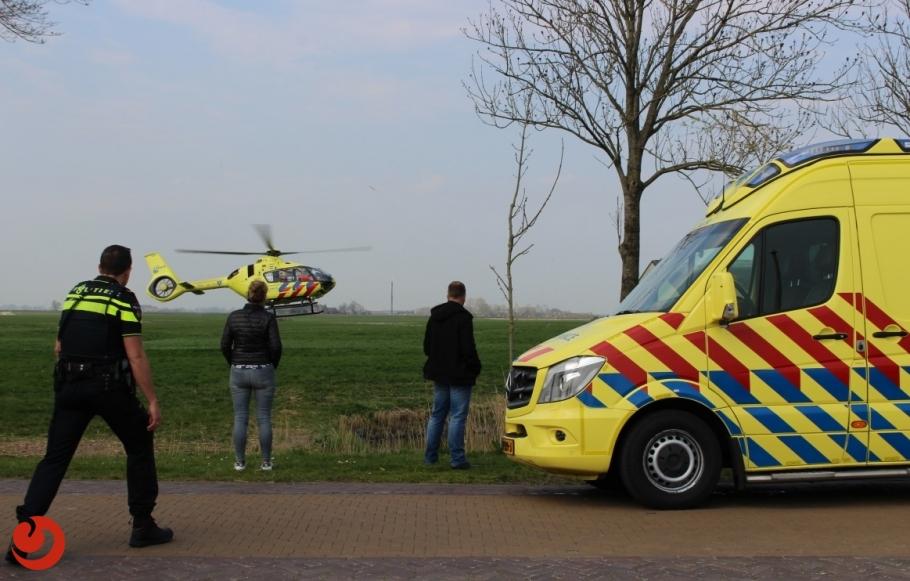 Motorrijder ernstig gewond na aanrijding met auto
