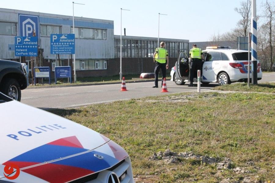 Pier Holwerd afgesloten door politie