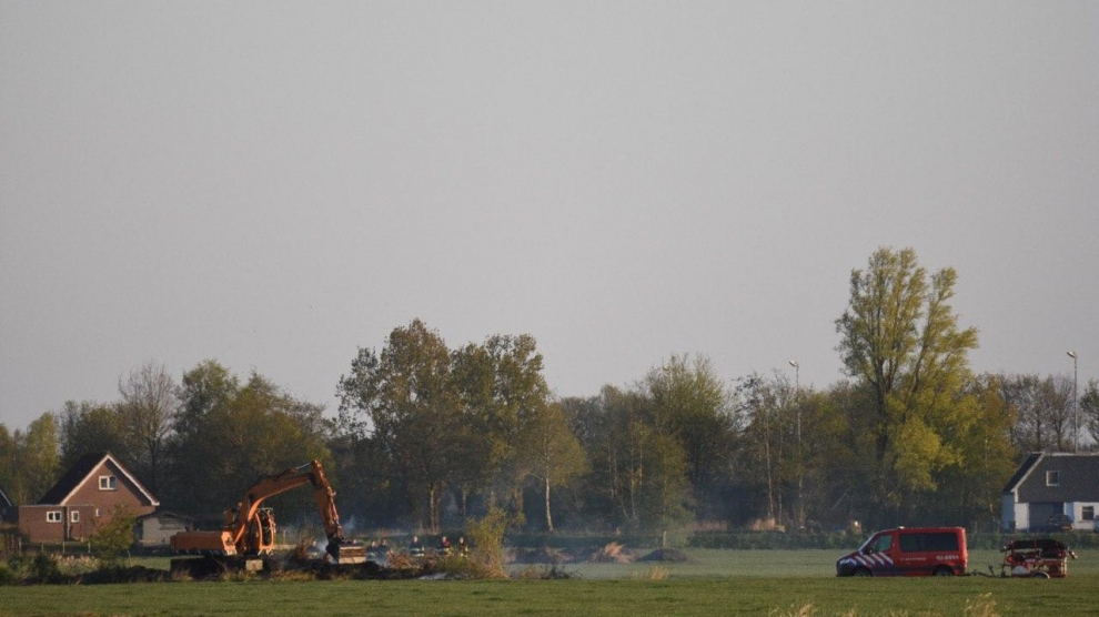 Brandweer ingezet voor brand in weiland