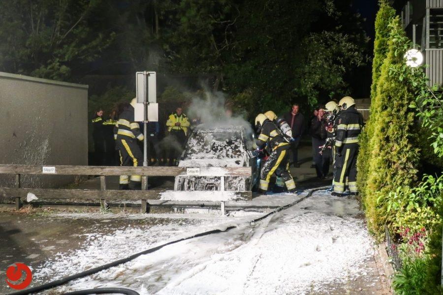 Brommobiel beschadigd door brand