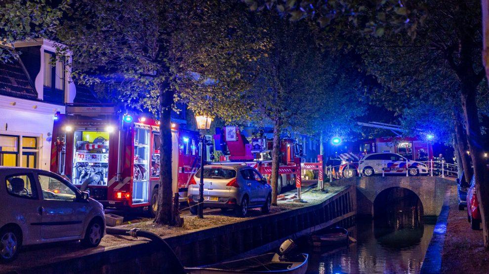 Brand in woning; brandweer voorkomt erger