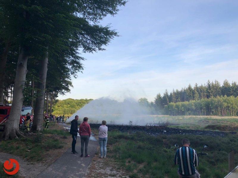 Brand in heidegebied snel onder controle