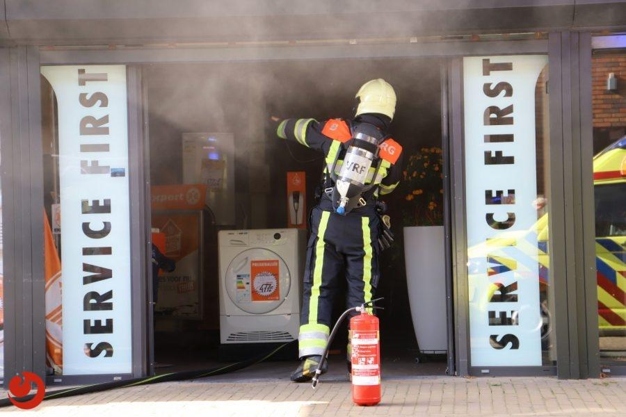 Expert winkel vol rook door brand