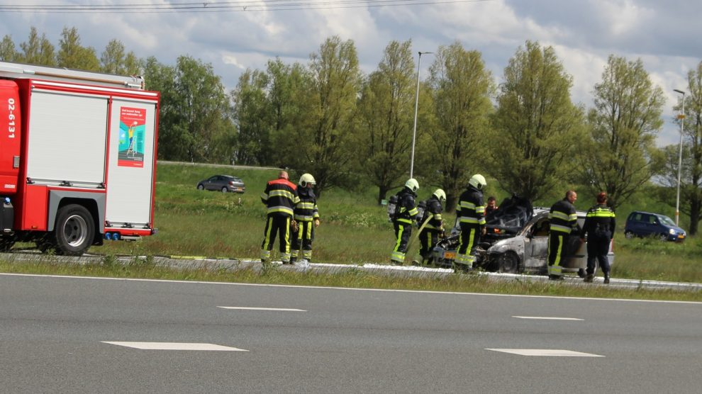 File op afrit Wâldwei door autobrand