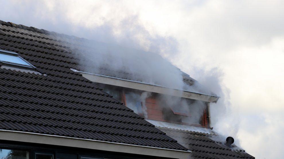 Brand op bovenverdieping van woning