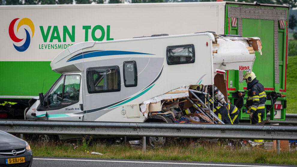 Ravage na ongeval op de A32