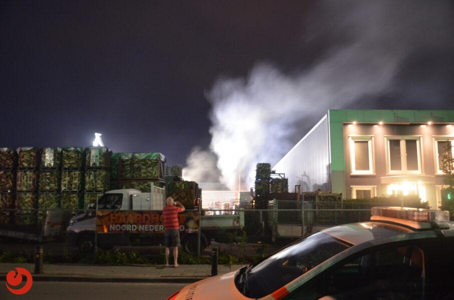 Brand op terrein haardhouthandel