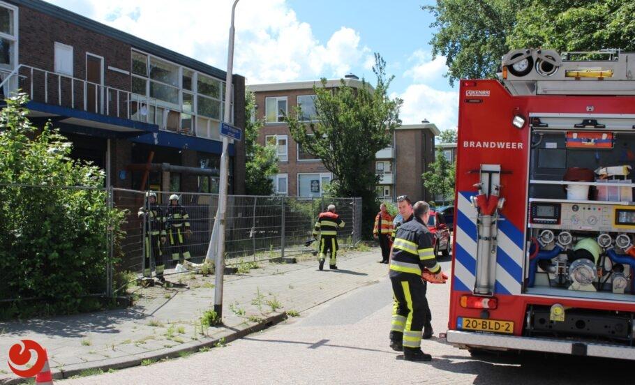 Brandje in voormalig garagebedrijf