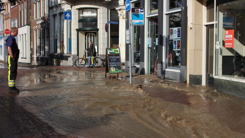 Overlast en schade door gebarsten waterleiding