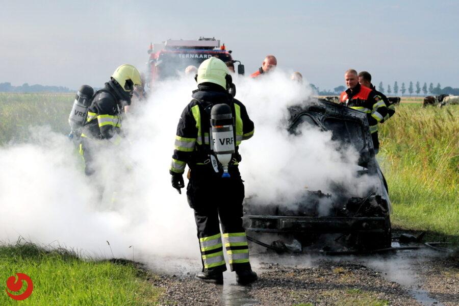 Crossvoertuig volledig verloren door brand