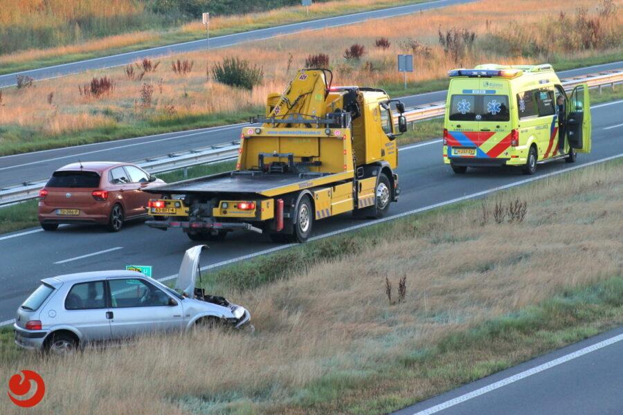 Voertuig beschadigd bij eenzijdig verkeersongeval