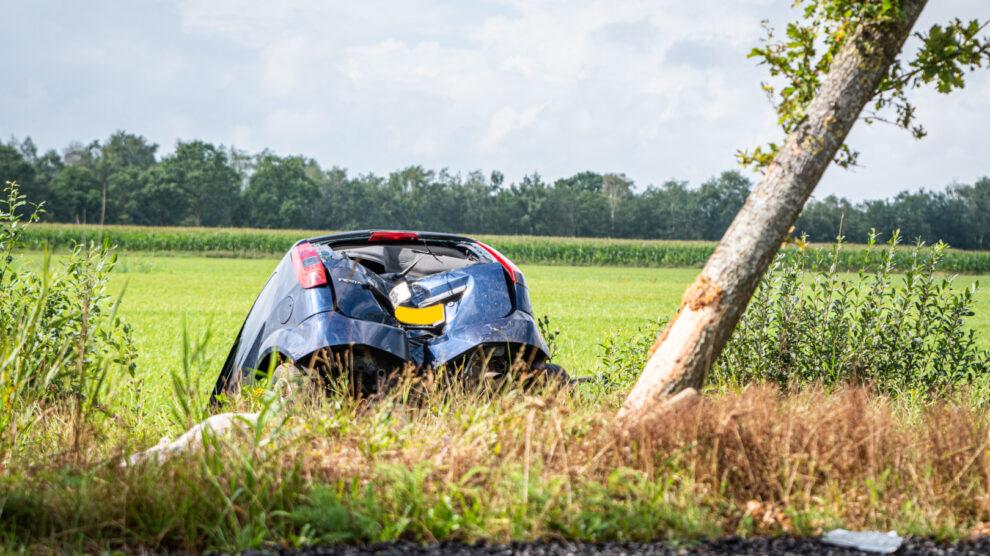 Automobiliste gewond bij eenzijdig ongeval