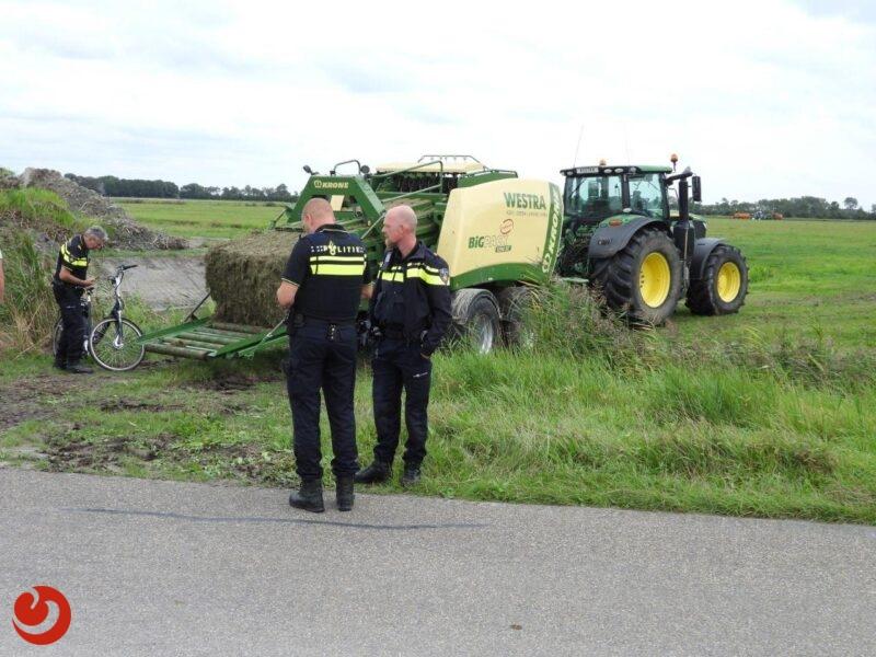 Fietser gewond na botsing met tractor