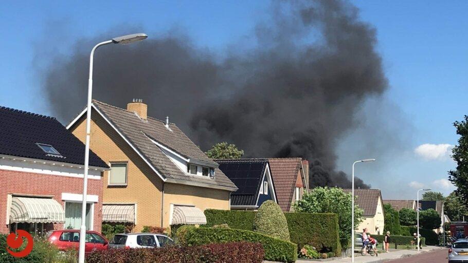 Uitslaande brand in loods