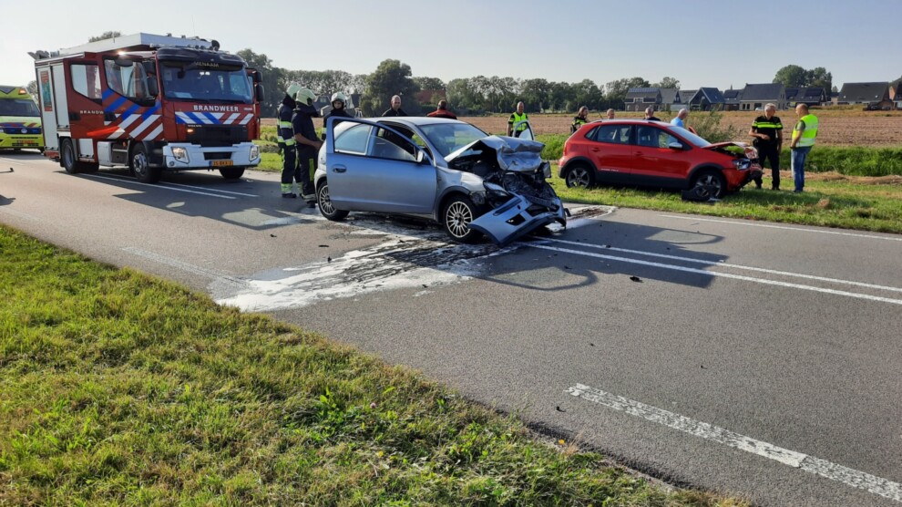Forse schade bij ongeval; één gewonde