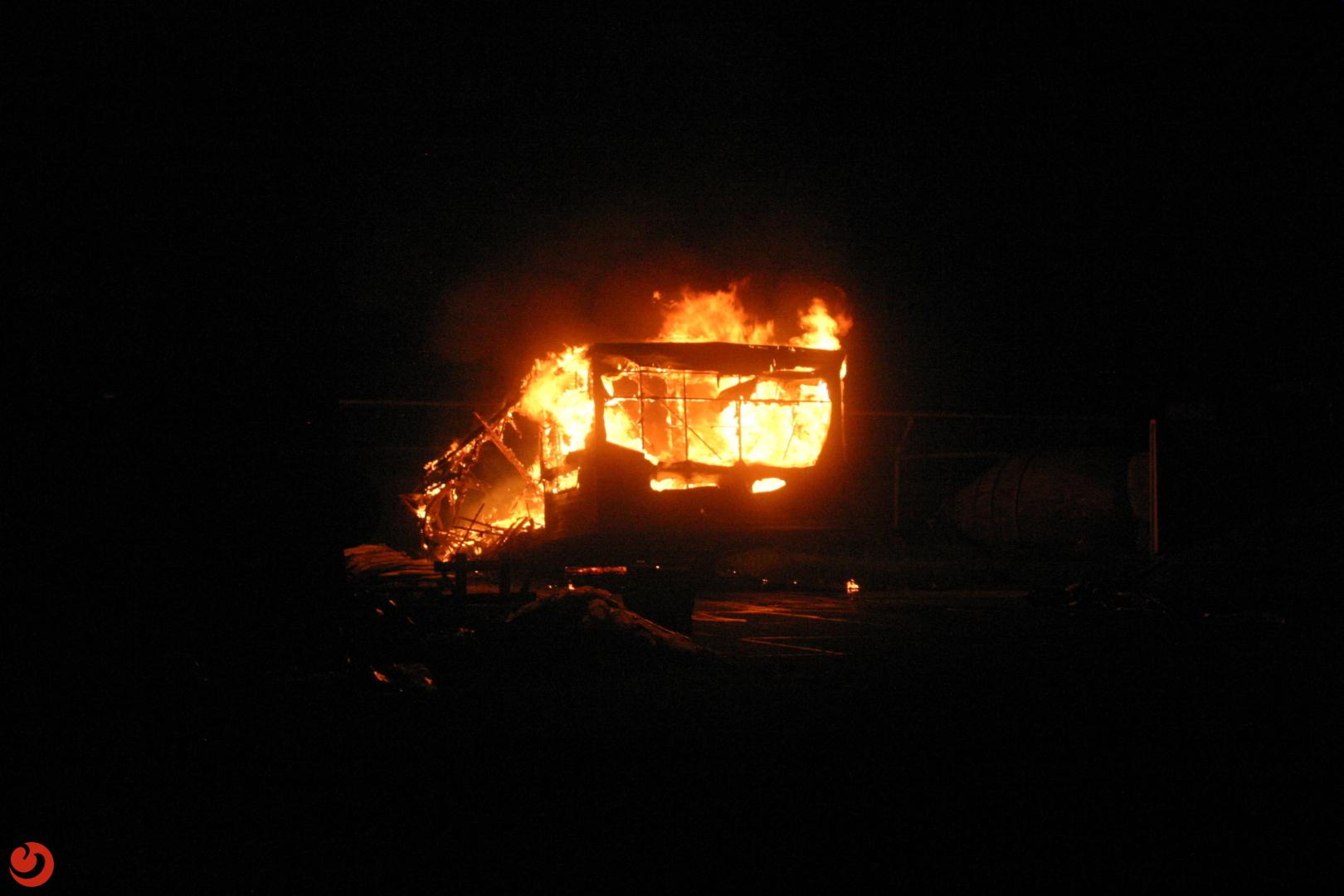 Jeugdkeet afgebrand op boerenerf