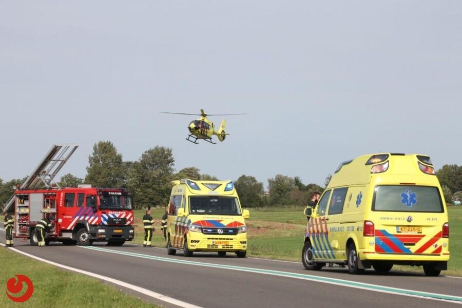 Twee gewonden bij eenzijdig ongeval N361