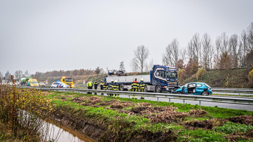 Forse schade bij ongeval A32