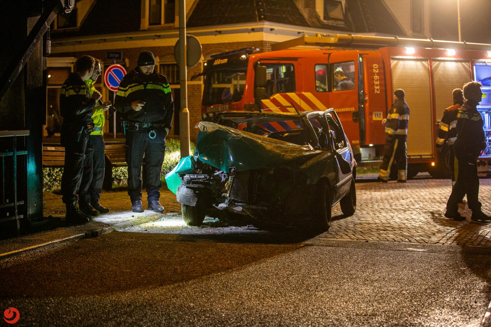 Drie gewonden bij ernstig eenzijdig ongeval