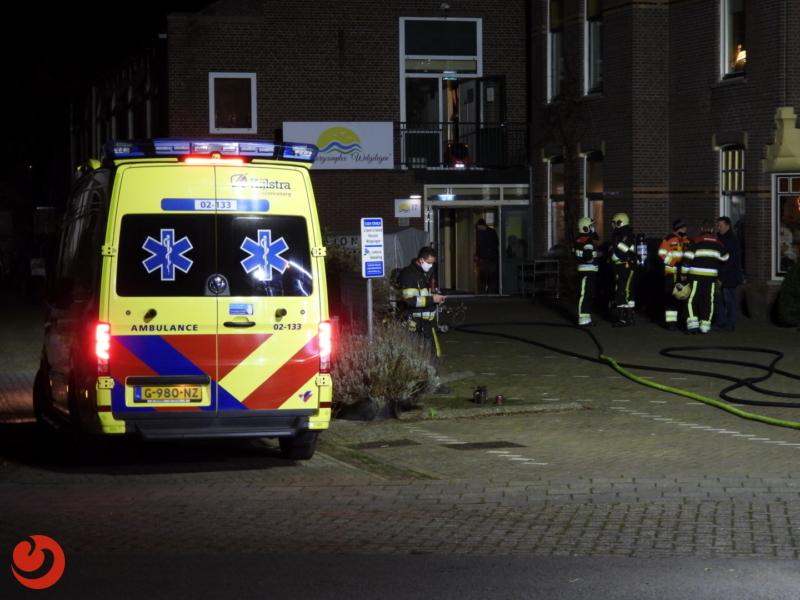 Twee gewonden bij brand in zorginstelling