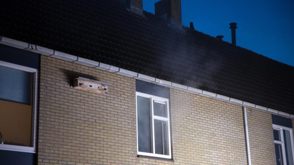 Woningbrand ontdekt door rookmelder