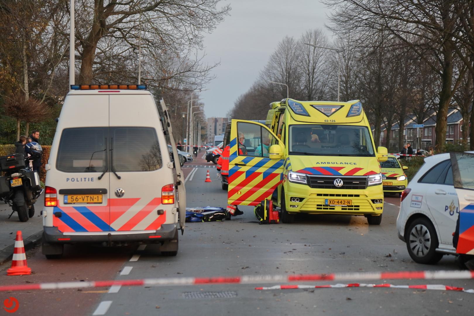 Fietser ernstig gewond na ongeval met taxibus.