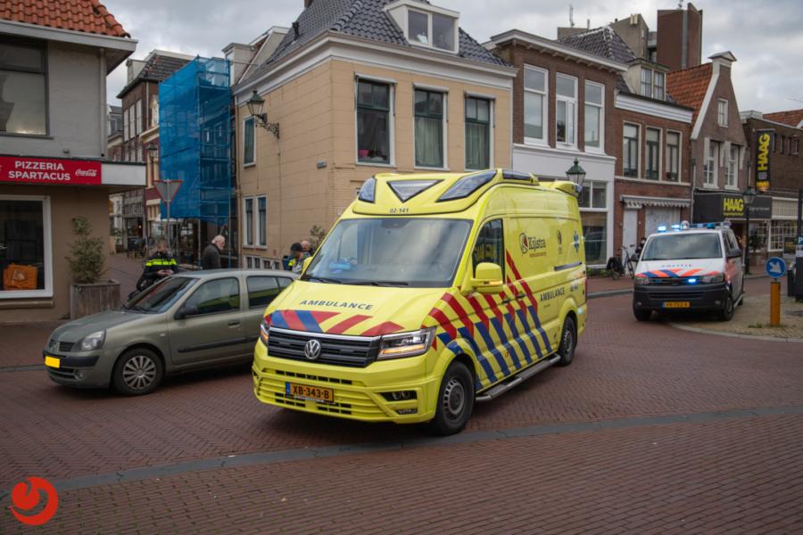 Fietsster gewond bij aanrijding met auto