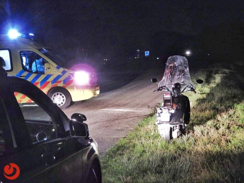 Scooterrijder gewond na vlucht voor de politie