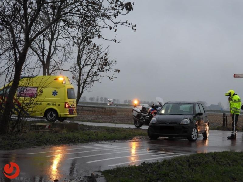Fietsster gewond bij aanrijding