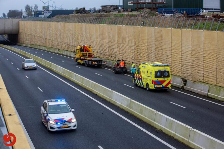 N31 tijdelijk afgesloten door eenzijdig ongeval
