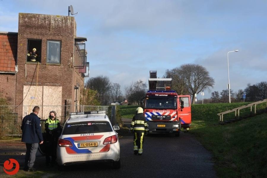 Man aangehouden na brand in leegstaand bedrijfspand