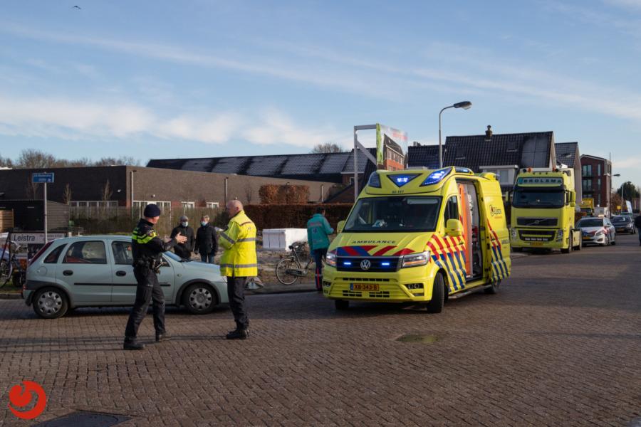 Fietsster gewond door aanrijding met auto