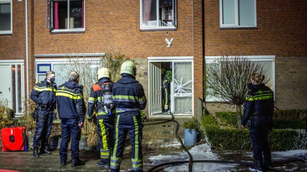 Brand op bovenverdieping woning