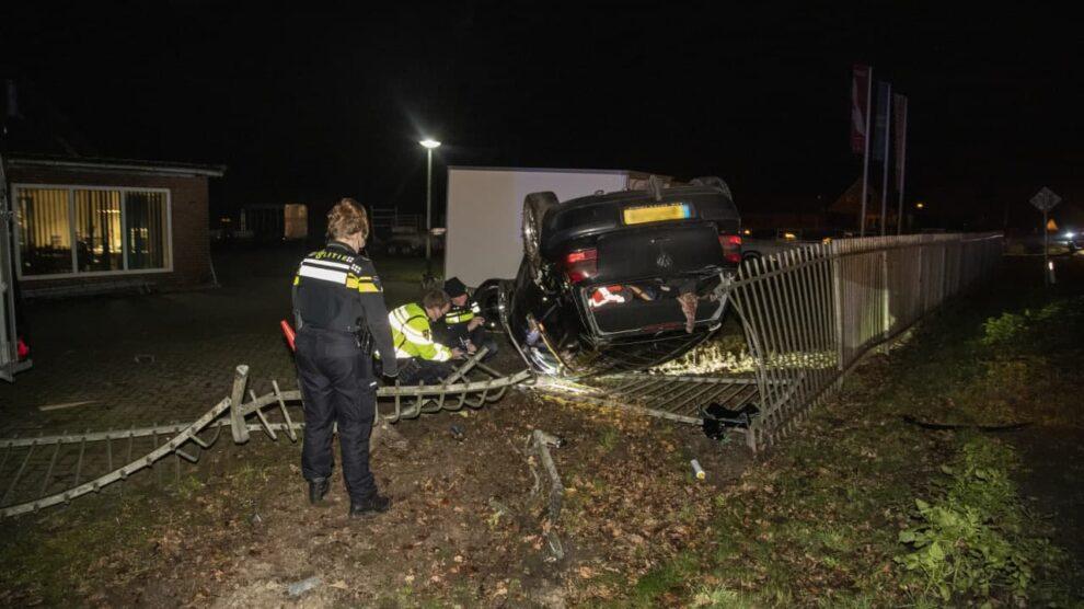 Gewonde bij fors eenzijdig ongeval