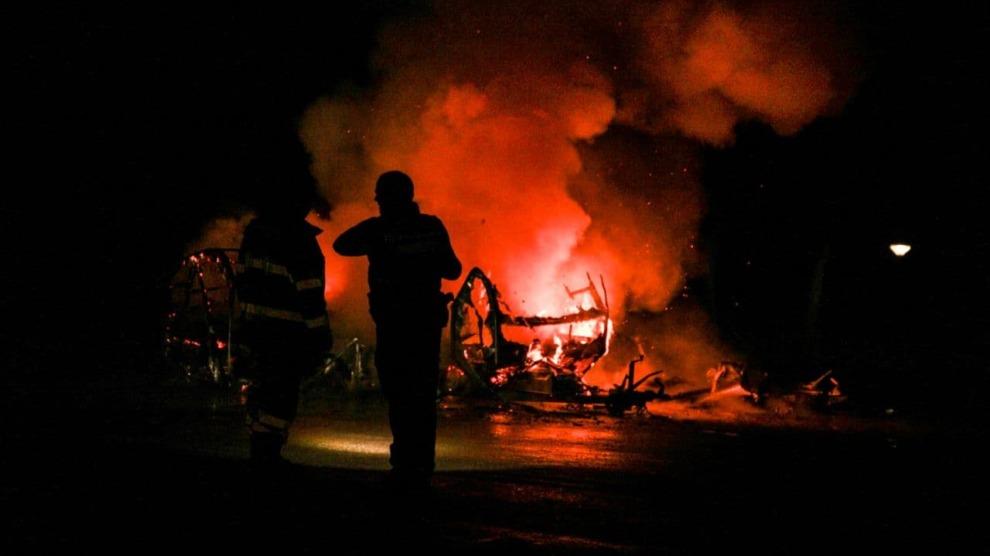 Opnieuw caravan in brand gestoken