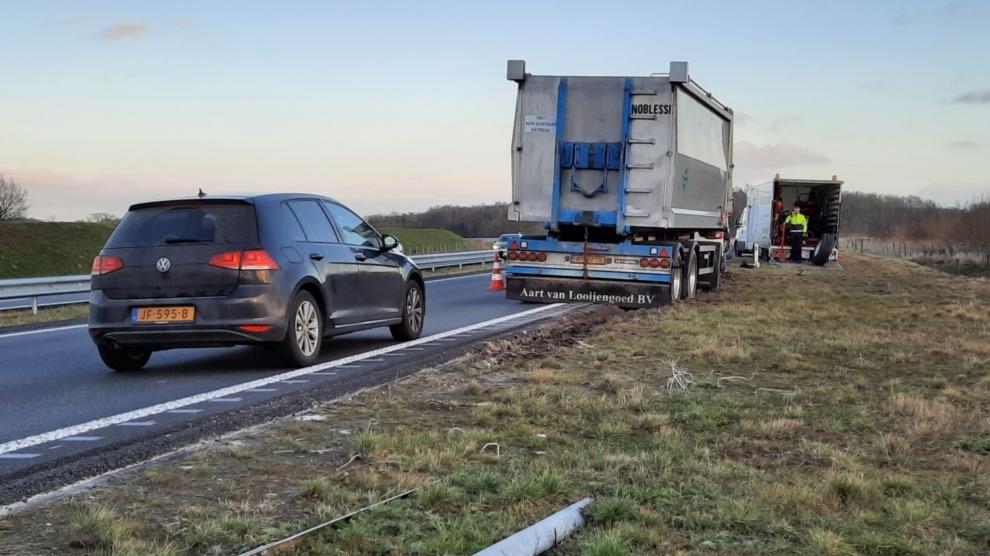 N381 afgesloten na ongeval