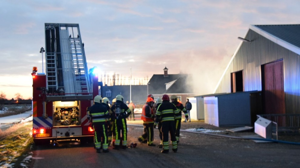 Grote brand in loods