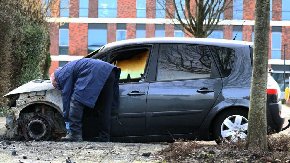Forensisch onderzoek na autobrand