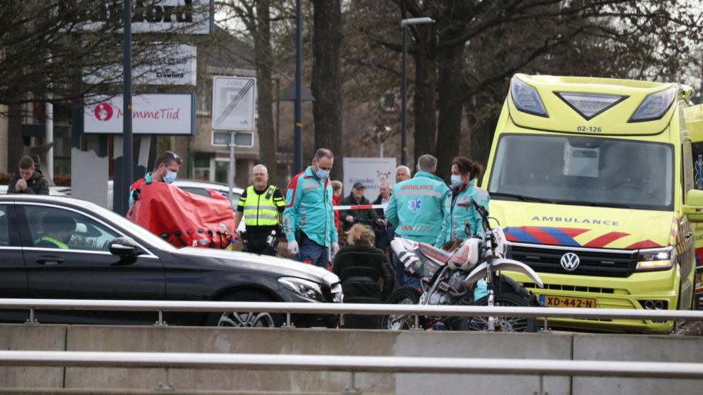 Ernstig gewonde bij ongeval met crossmotor