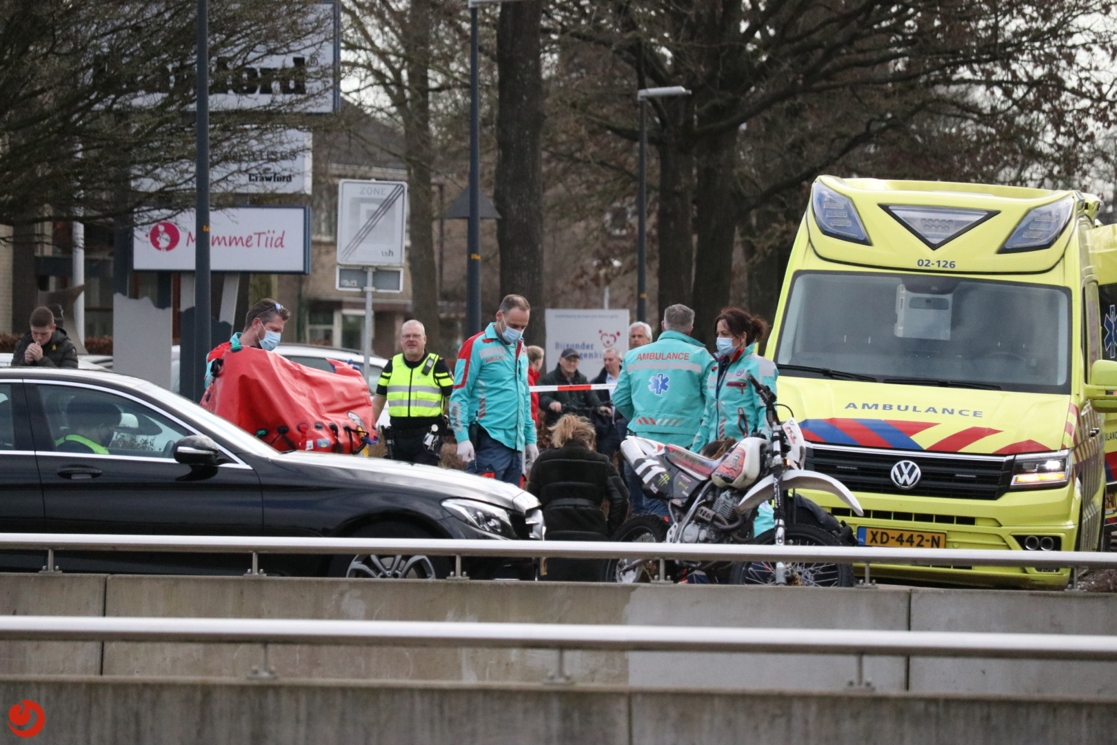Ernstig gewonde bij ongeval met crossmotor.