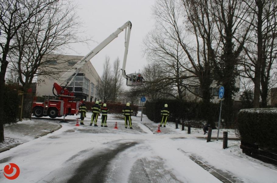 Brandweer in actie voor stormschade
