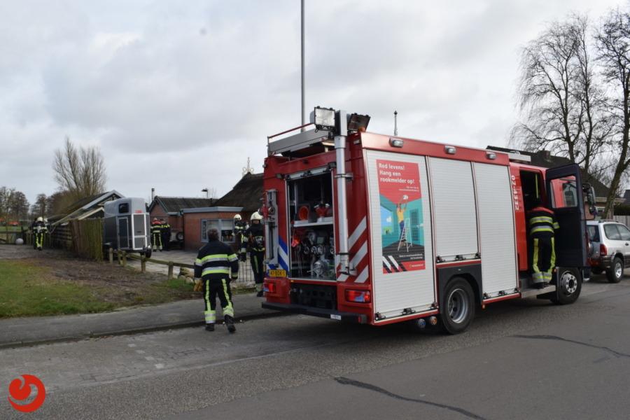 Brand in bijgebouw snel onder controle