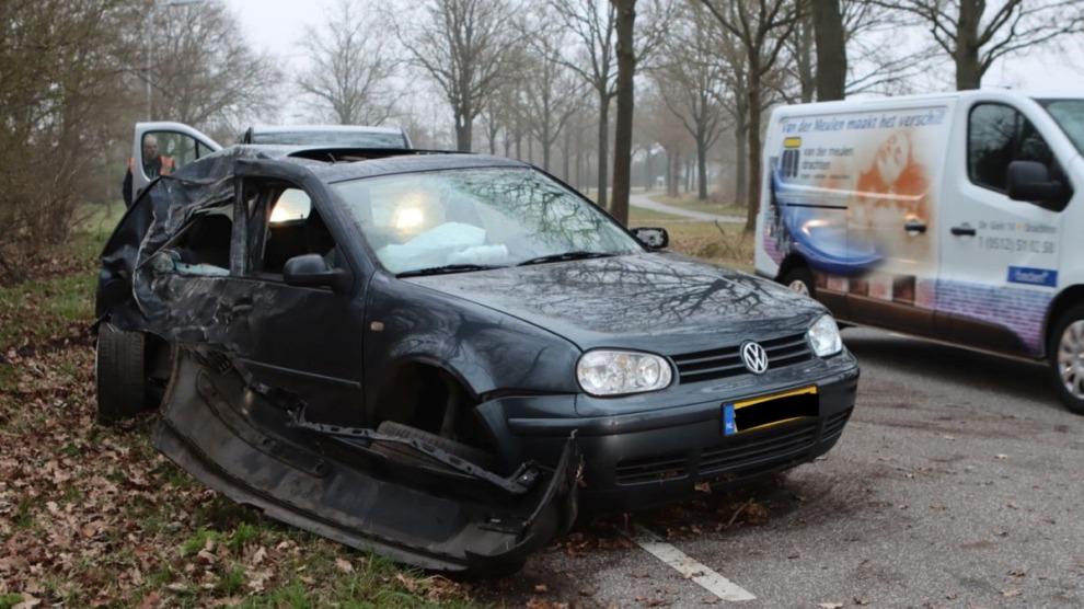 Man gewond bij eenzijdig ongeval